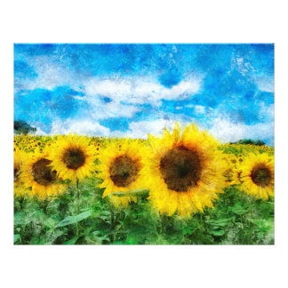 Sunflowers painting flyer