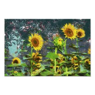 Sunflowers painting photo print