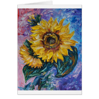 Sunflowers (Palette Knife) Card