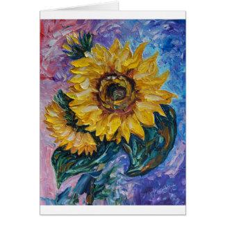 Sunflowers (Palette Knife) Card