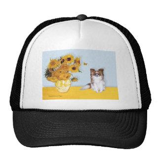 Sunflowers - Papillon 6 Trucker Hat