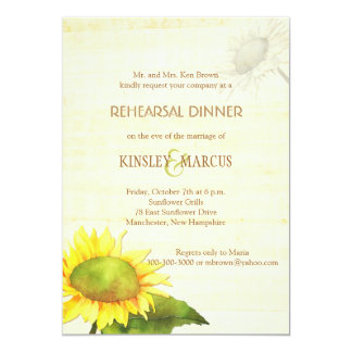 Sunflowers + Papyrus Print Rehearsal Dinner Card