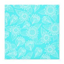 Sunflowers pattern canvas print