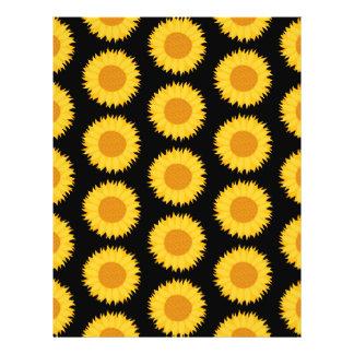 Sunflowers Pattern on Black Custom Flyer