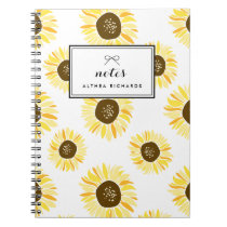 Sunflowers Pattern Personalized Notebook