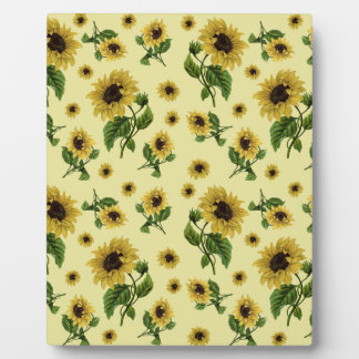 Sunflowers pattern plaque