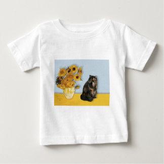 Sunflowers - Persian Calico cat Baby T-Shirt