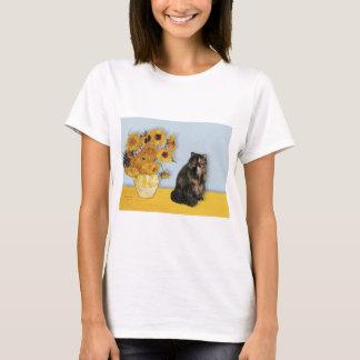 Sunflowers - Persian Calico cat T-Shirt