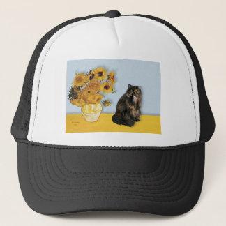 Sunflowers - Persian Calico cat Trucker Hat