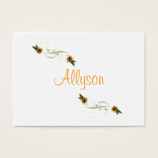 Sunflowers Personalized Business or Calling Cards