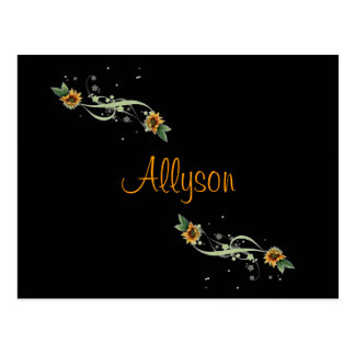 Sunflowers Personalized Postcard