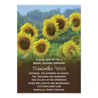 Sunflowers Photo Bridal Shower Invitation Personalized Invitation