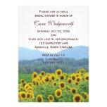 Sunflowers Photo Bridal Shower Invitation Personalized Announcement
