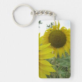 Sunflowers Photo Rectangle (single-sided) Keychain
