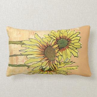 Sunflowers Pilows,  Copyright Karen J Williams Lumbar Pillow