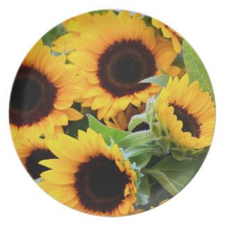 Sunflowers Plate