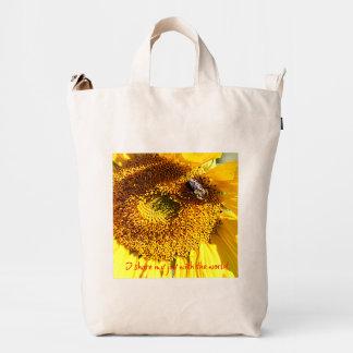 Sunflowers:  Pleasure and Joy Duck Bag