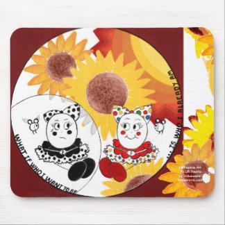 Sunflowers-Positive Uplifting Self Esteem Art Mouse Pad