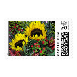 Sunflowers! Postage