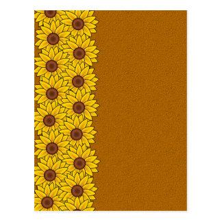 Sunflowers postcard customize
