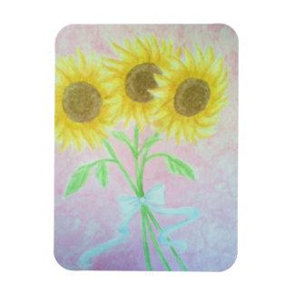Sunflowers Rectangular Photo Magnet