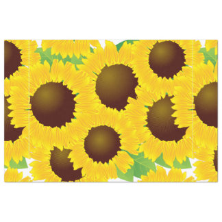 "Sunflowers Print Pattern 20"" X 30"" Tissue Paper"