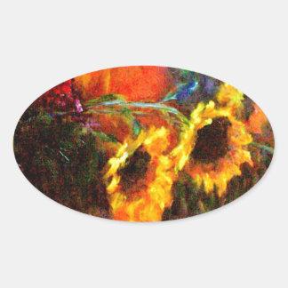 Sunflowers & Pumpkin Painting  by Sharles Sticker