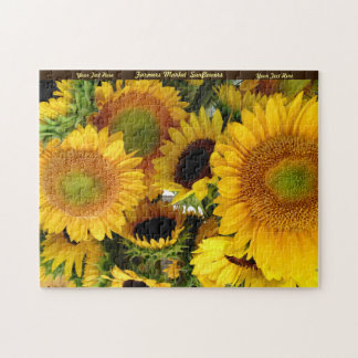 Sunflowers Puzzle Personalize Gift For Grandma