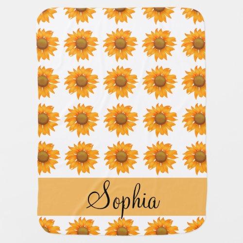 Sunflowers Receiving Blanket