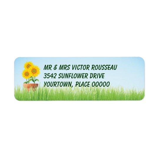 Sunflowers Return Address Label
