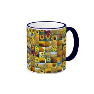 sunflowers ringer coffee mug