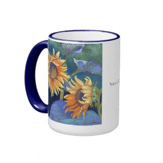 sunflowers ringer mug