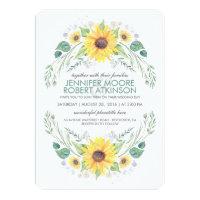 Sunflowers Rustic Country Wedding Card (<em>$2.21</em>)