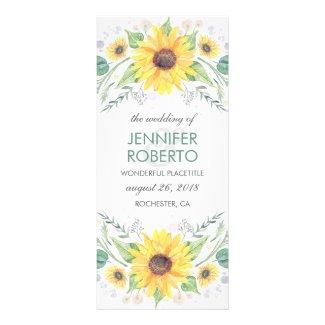 Rustic Sunflowers Wedding Programs