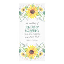 Sunflowers Rustic Country Wedding Program