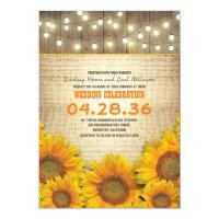 Sunflowers Rustic Wedding Invitations (<em>$2.01</em>)