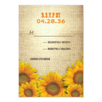 Sunflowers Rustic Wedding RSVP Cards (<em>$1.86</em>)