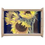 Sunflowers Serving Platters