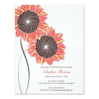 "Sunflowers Shower/Party Invitation 4.25"" X 5.5"" Invitation Card"