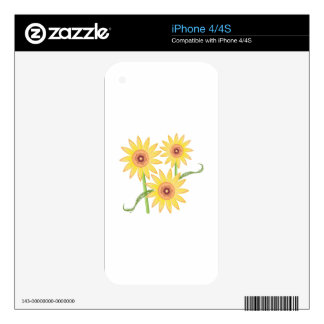 Sunflowers Skin For iPhone 4S