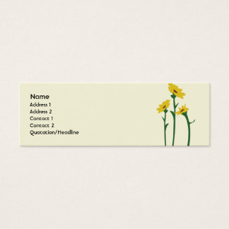 Sunflowers - Skinny Mini Business Card