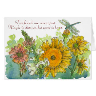 Sunflowers Snapdragons Flowers Miss You Friend Card