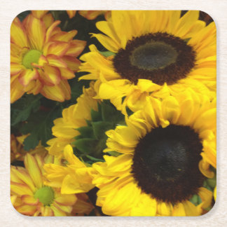 Sunflowers Square Paper Coaster