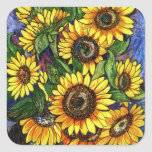 Sunflowers Square Sticker