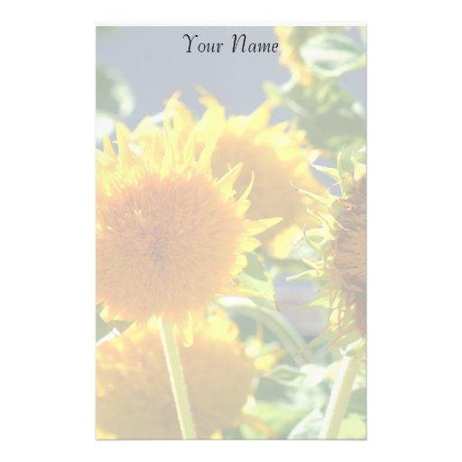 Sunflowers stationary stationery design