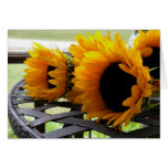 Sunflowers Stationery Note Card