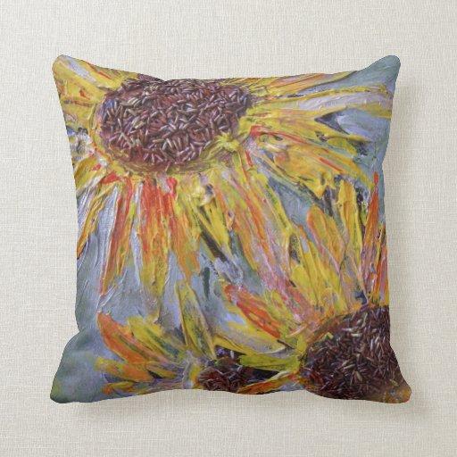 SUNFLOWERS - Summer Bold Beauty Throw Pillow Zazzle