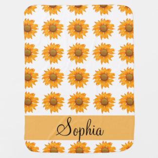 Sunflowers Swaddle Blanket