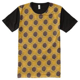 Sunflowers T-shirt Art Print Flower Shirts Custom