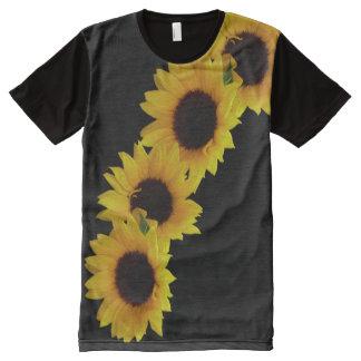 Sunflowers T-shirt Yellow Flower Shirts Custom